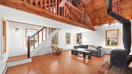 The home contains an open floor plan.