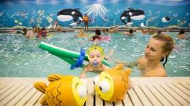 Martyna Skiba of Levittown enjoys family swim night