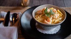 Fuzi (Istrian pasta) with shrimp, white truffle and