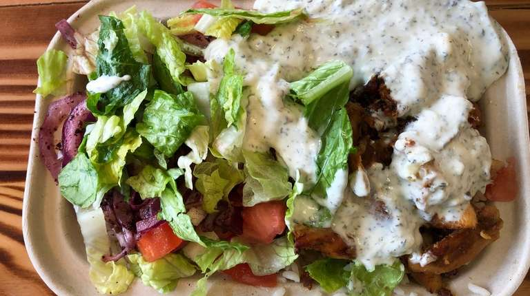 At Hummus Mediterranean Grill, customers customize bowls that