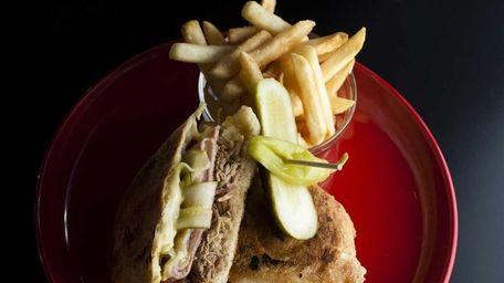 The Cubano -- ham, pulled pork, swiss, dijon