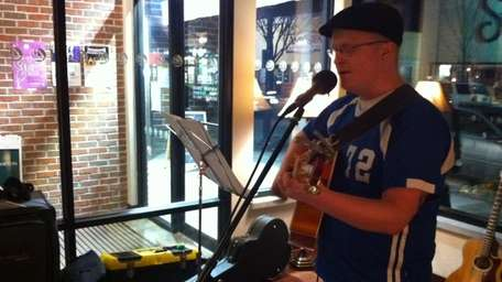 Brian White, of Medford, performs every Tuesday at
