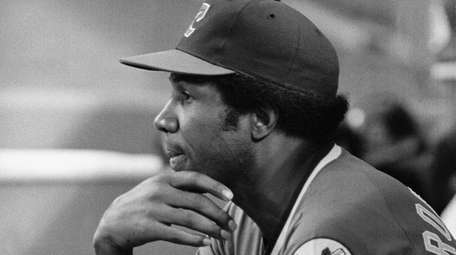 Indians manager Frank Robinson looks on against the