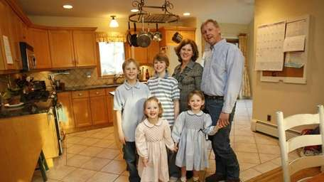 The Schneider family from Southampton gather in the