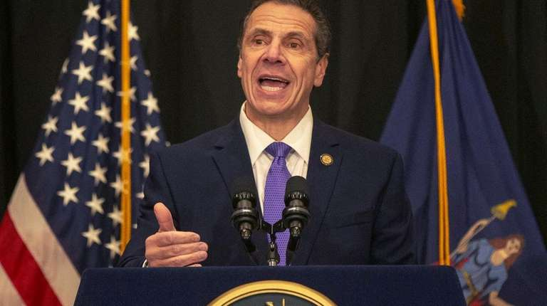 Governor Andrew Cuomo speaks at the Long Island
