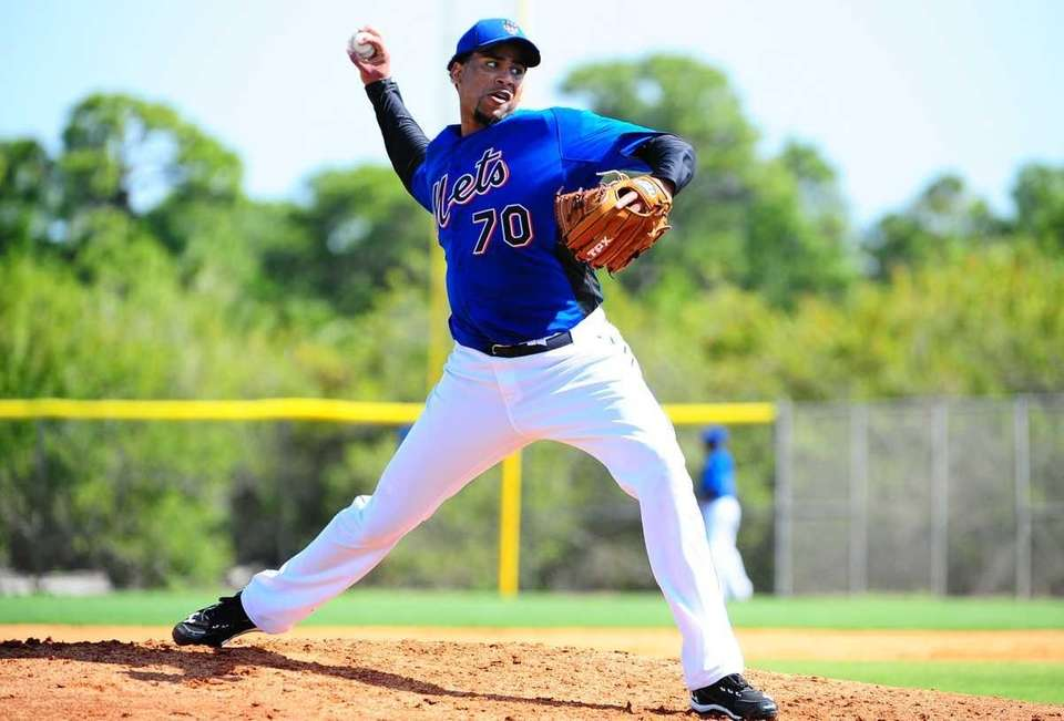 Pedro Beato during spring training workout at