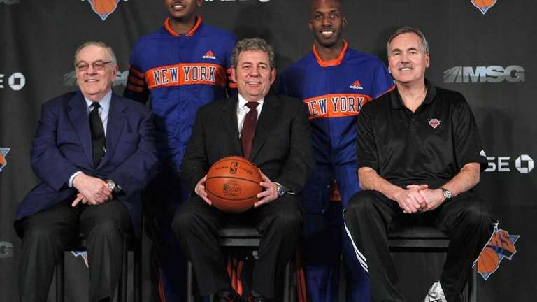 New York Knicks newest basketball players Carmelo Anthony,