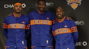 New York Knicks Carmelo Anthony, left, and Chauncey