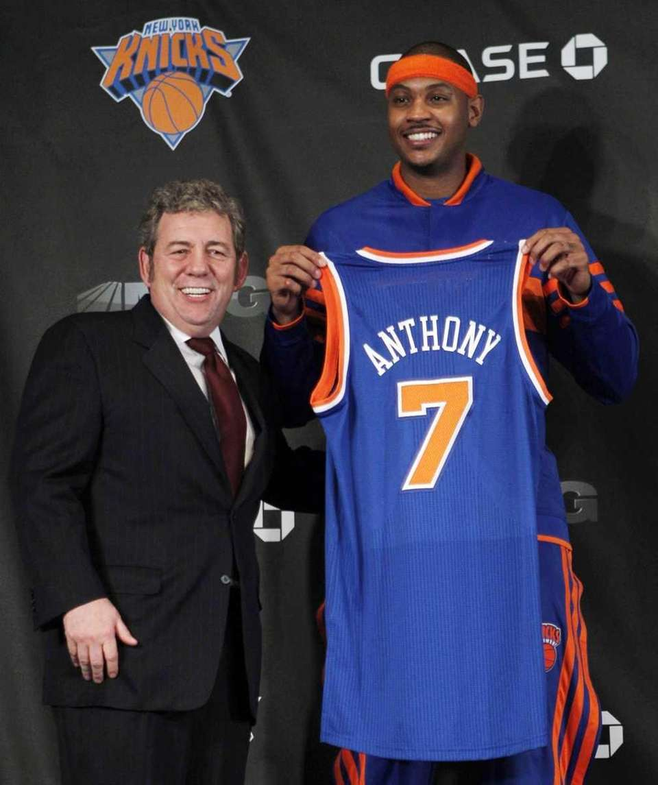 New York Knicks newest basketball player Carmelo Anthony,