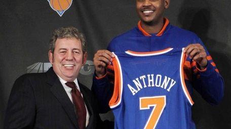 New York Knicks newest basketball player Carmelo Anthony,