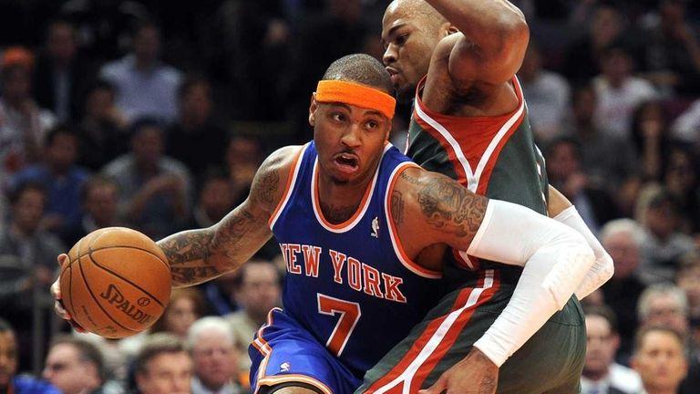The New York Knicks' new star Carmelo Anthony