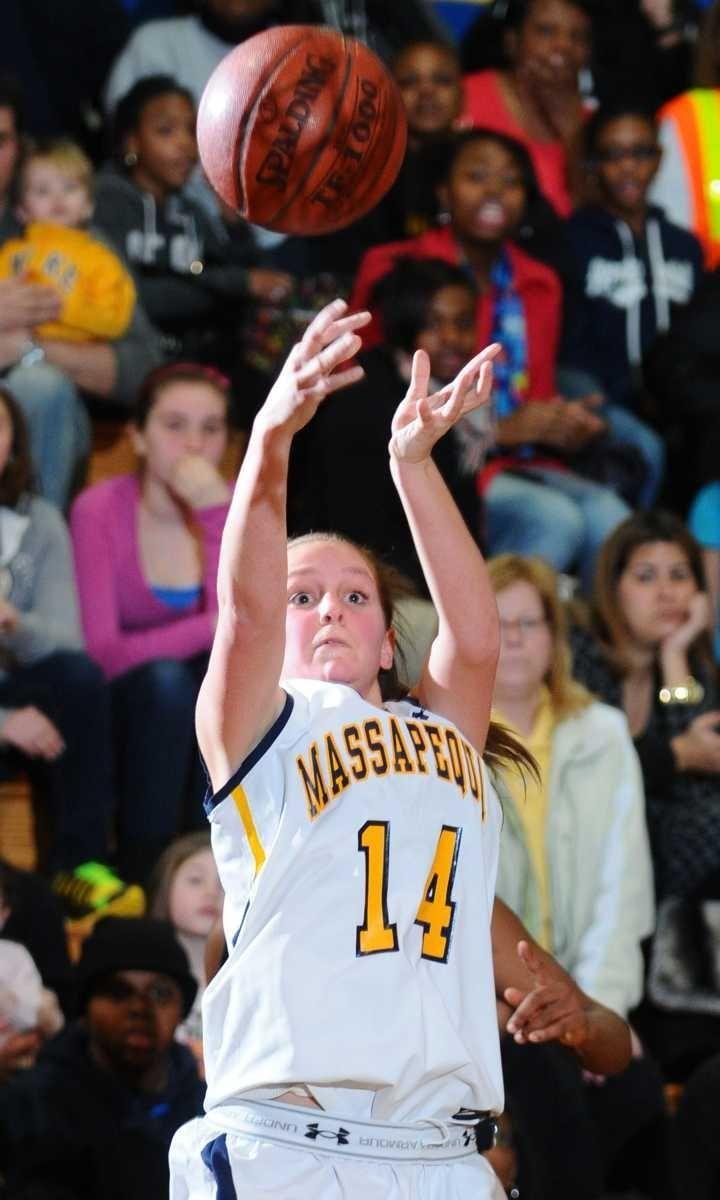 Massapequa High School #14 Nicole Scicutella shoots a