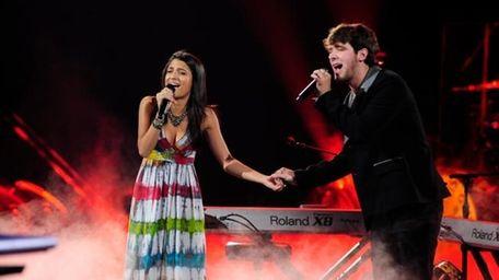 Contestants Julie Zorilla and Tim Halperin perform the