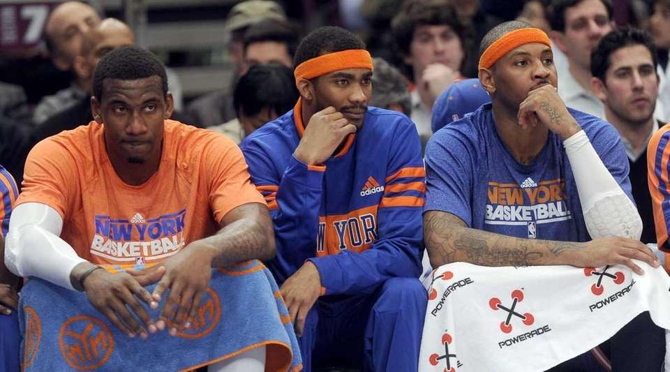 The New York Knicks' Amar'e Stoudemire left and