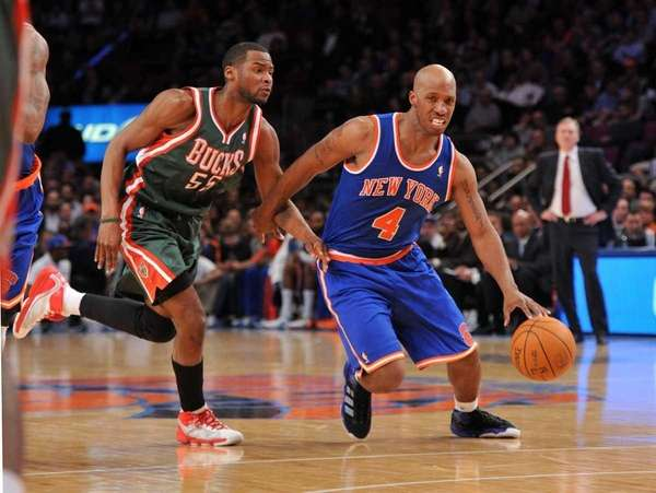 New York Knicks point guard Chauncey Billups (4)