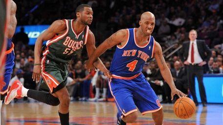 New York Knicks point guard Chauncey Billups (4)