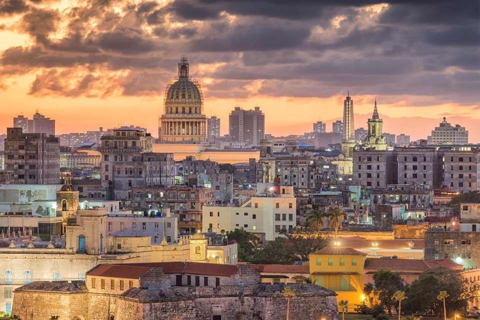 The Capitol Building dominates the skyline of Havana,