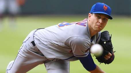 Cy Young Award winner Jacob deGrom, shown here