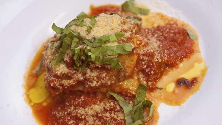 Diners can try the eggplant parmigiana at Cafe