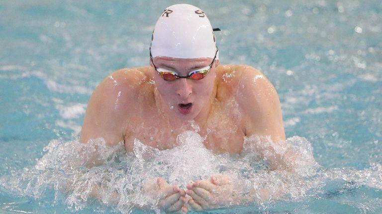 Shoreham Wading River's Jason Louser wins the 100