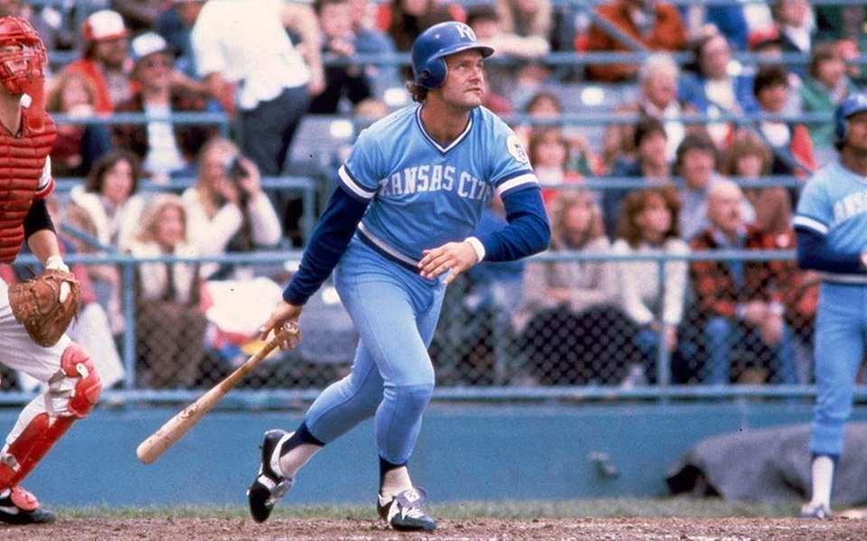 15) GEORGE BRETT, 3,154 career hits 21 seasons,