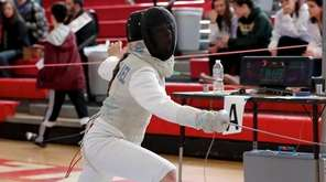 Ward Melville's Ivanna Zavala-Arbelaez competes in the foil