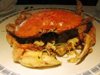 Dungeness crab is stir-fried at Hunan Taste in