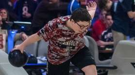 Mineola's Phil Macchietto in the Nassau individual bowling