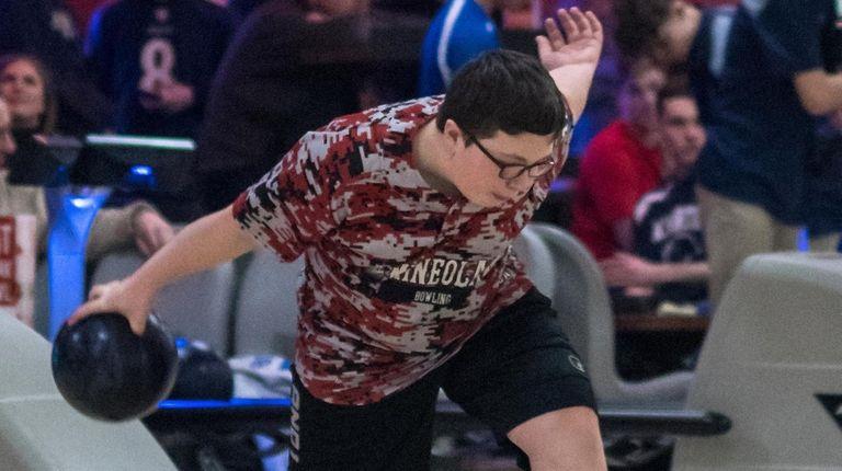 Mineola's Phil Macchietto in the Nassau individual bowling