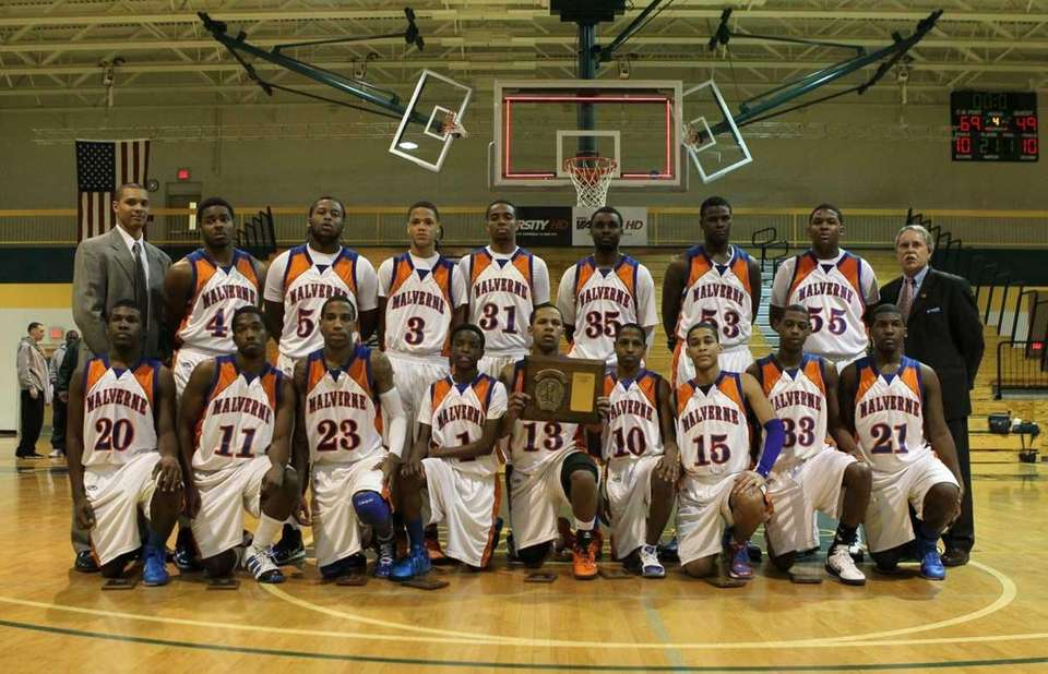 The players from Malverne pose for a team