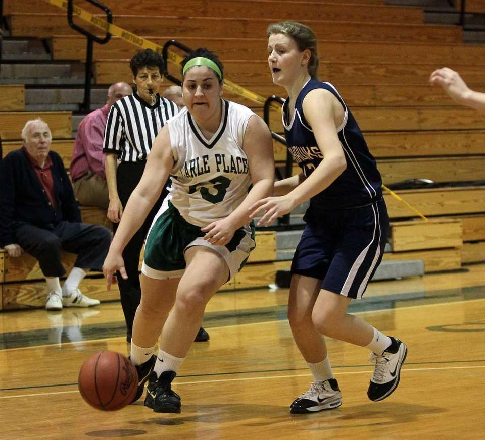 Emily Mullin #13 of Carle Place drives against