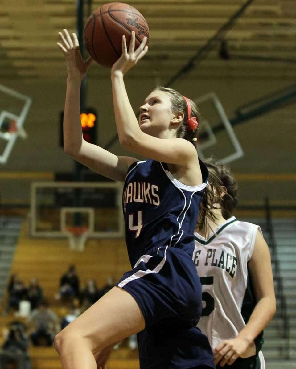 Katie Durand #24 of Cold Spring Harbor shoots