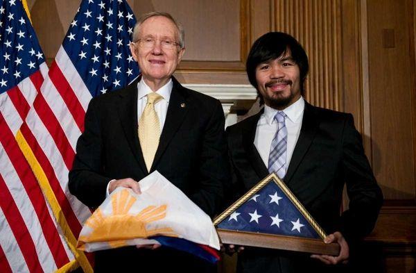 Filipino boxer and congressman Manny Pacquiao and US