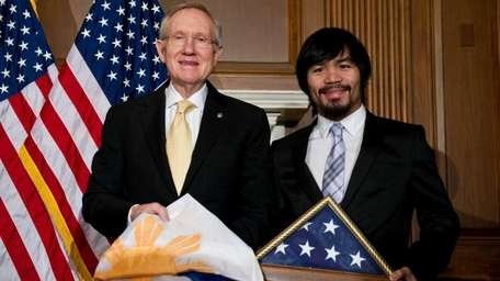 Filipino boxer and congressman Manny Pacquiao and US