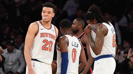 Knicks forward Kevin Knox, guard Kadeem Allen and