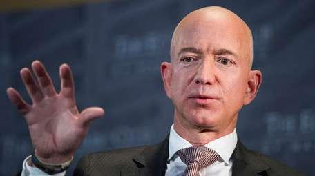 Jeff Bezos, Amazon founder and CEO, speaks at