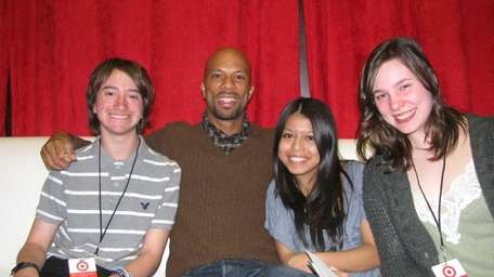Actor and singer Common with Kidsday reporters, from