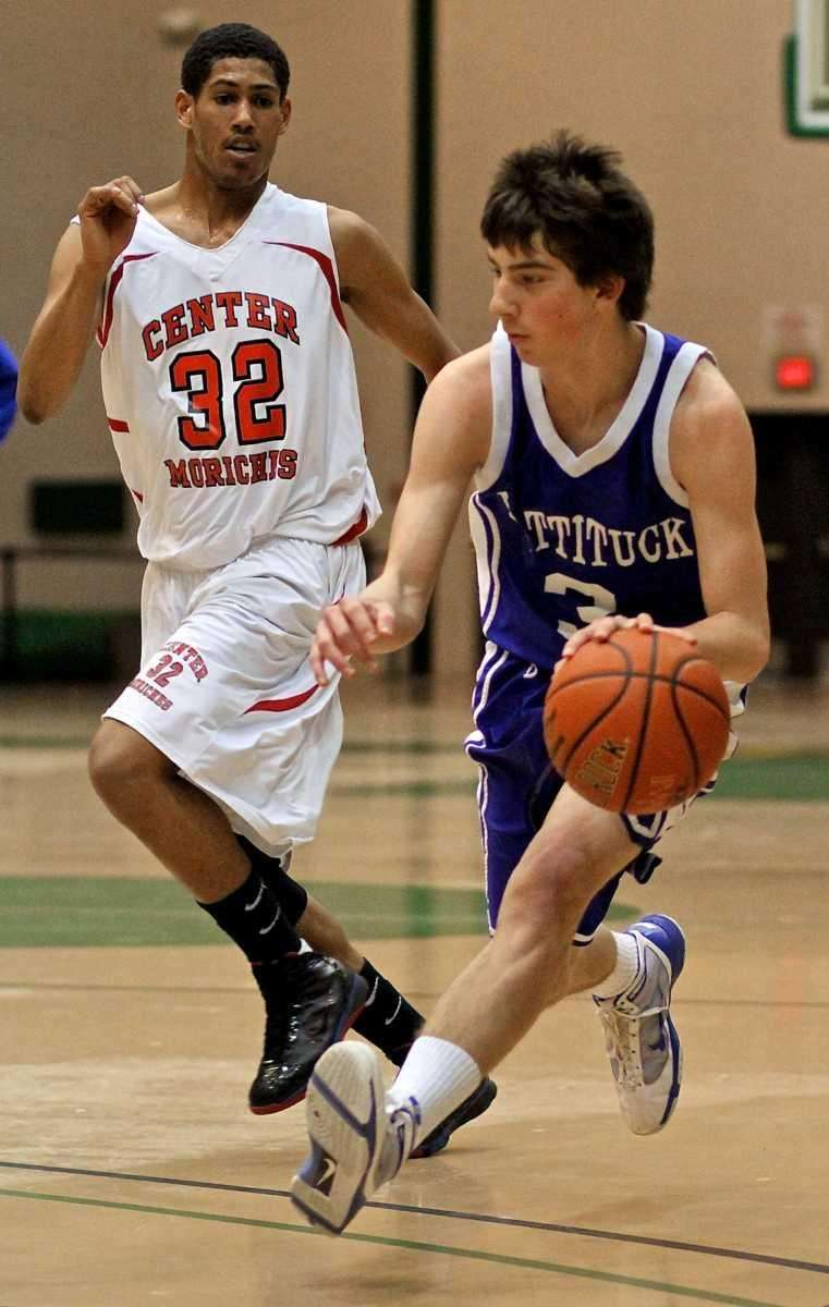 Mattituck guard Thomas Ascher #3 moves into the