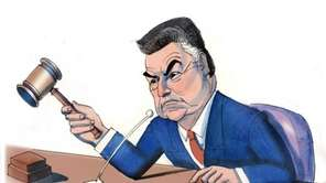 Randy Jones illustration of Rep. Peter King for
