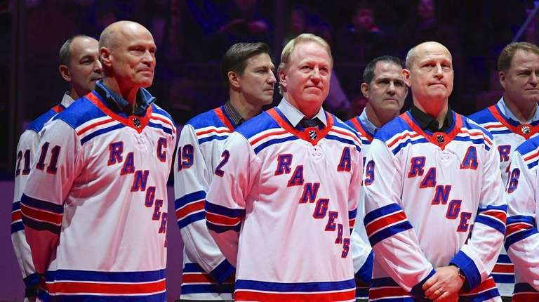 Former Rangers Mark Messier, Brian Leetch and Adam