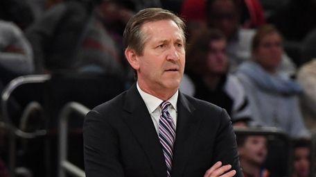 New York Knicks head coach Jeff Hornacek looks