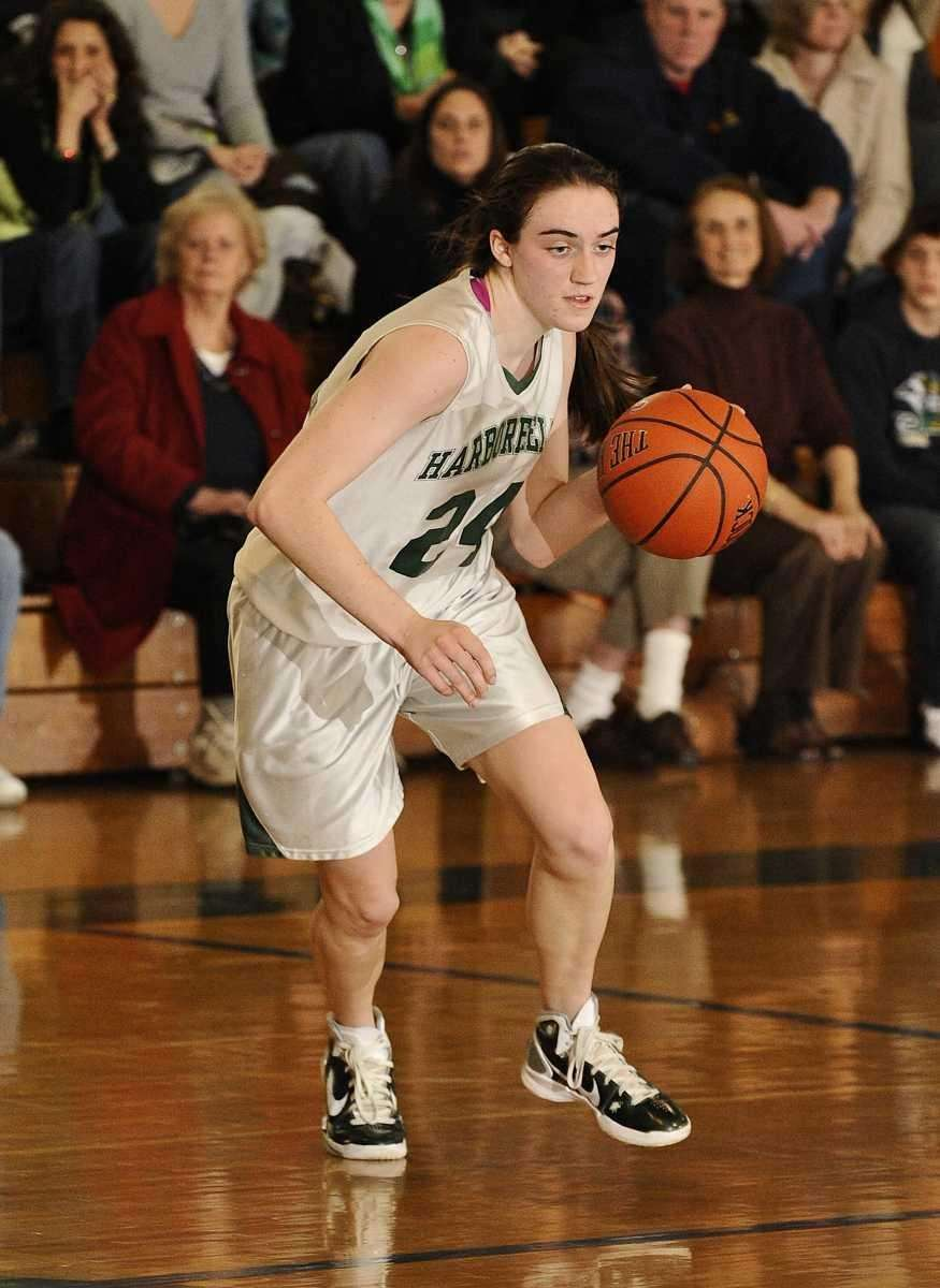 Harborfields' Bridgit Ryan controls the ball against Kings