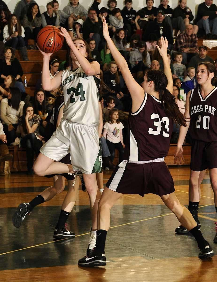 Harborfields' Bridgit Ryan goes up for a layup