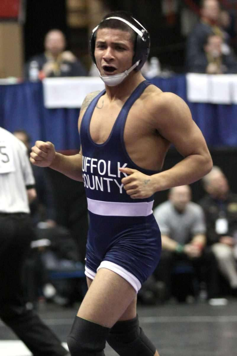 Brentwood's Alex Gomez starts to celebrate his win