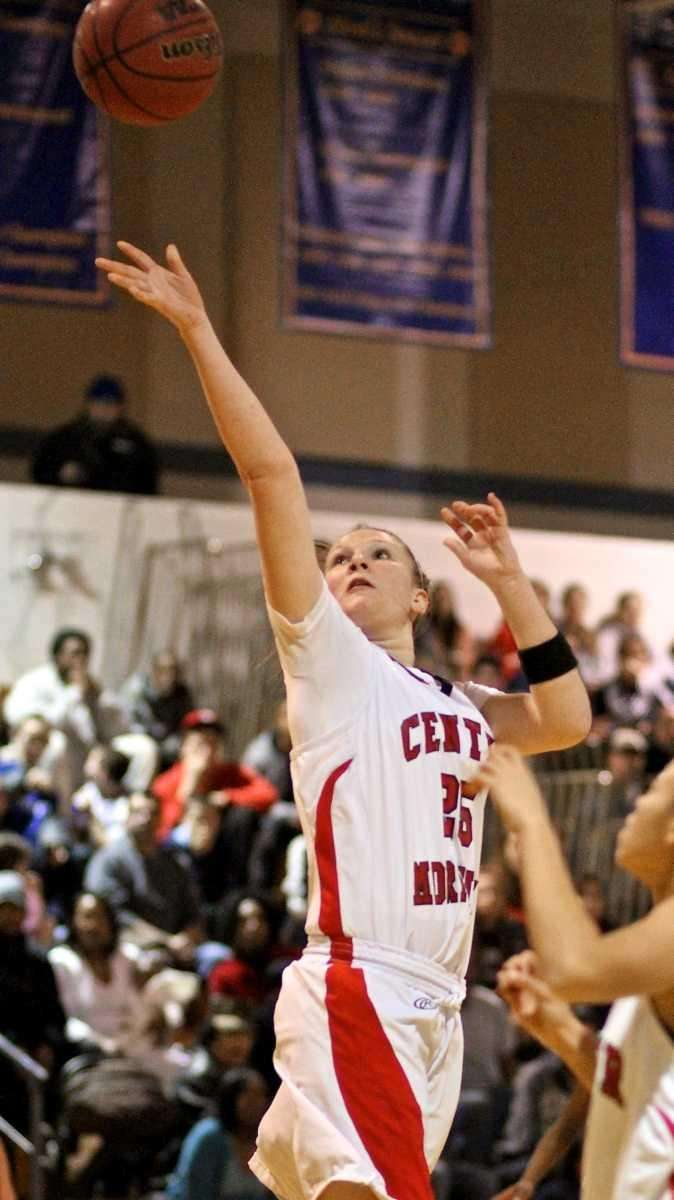 Center Moriches guard Kelsey Glanzman #25 takes the