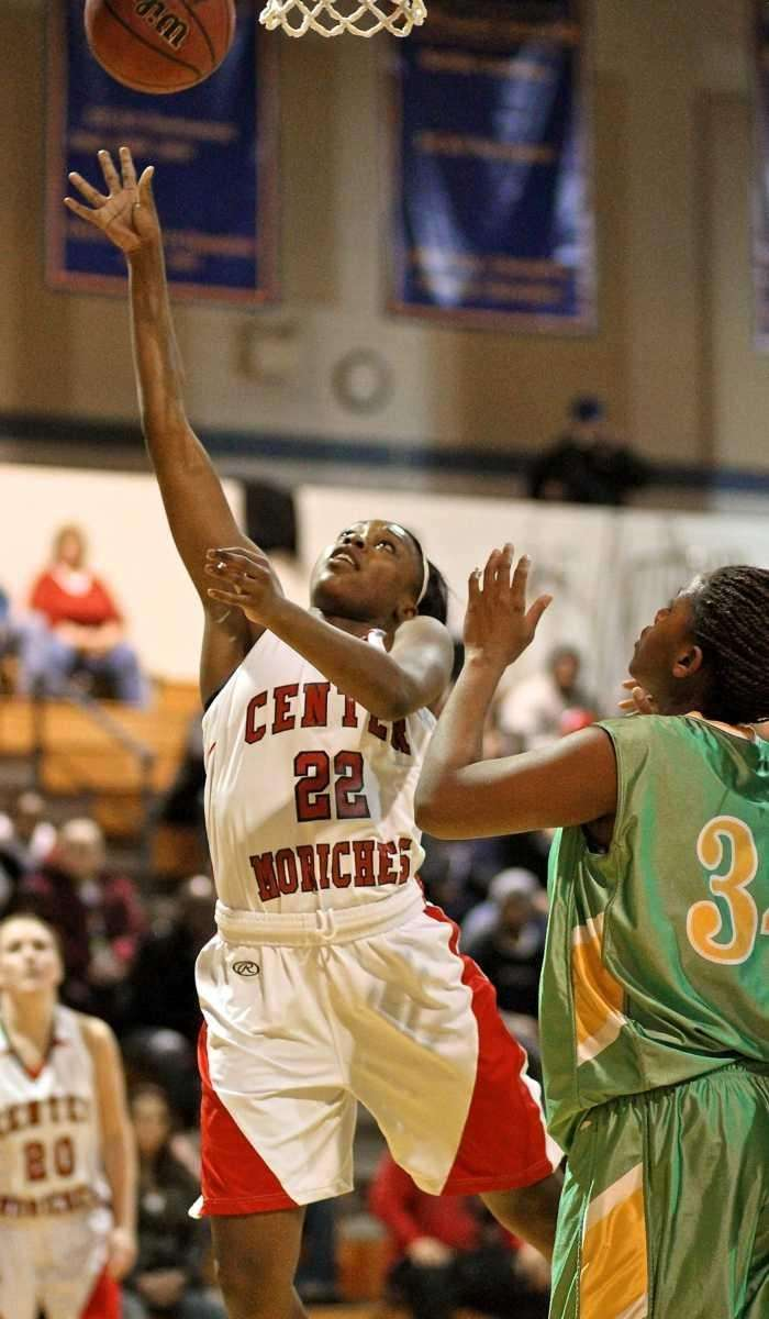 Center Moriches guard Amber Davis #22 puts up