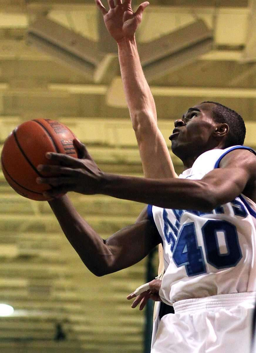 St. Mary's Chavaughn Lewis gets inside during the