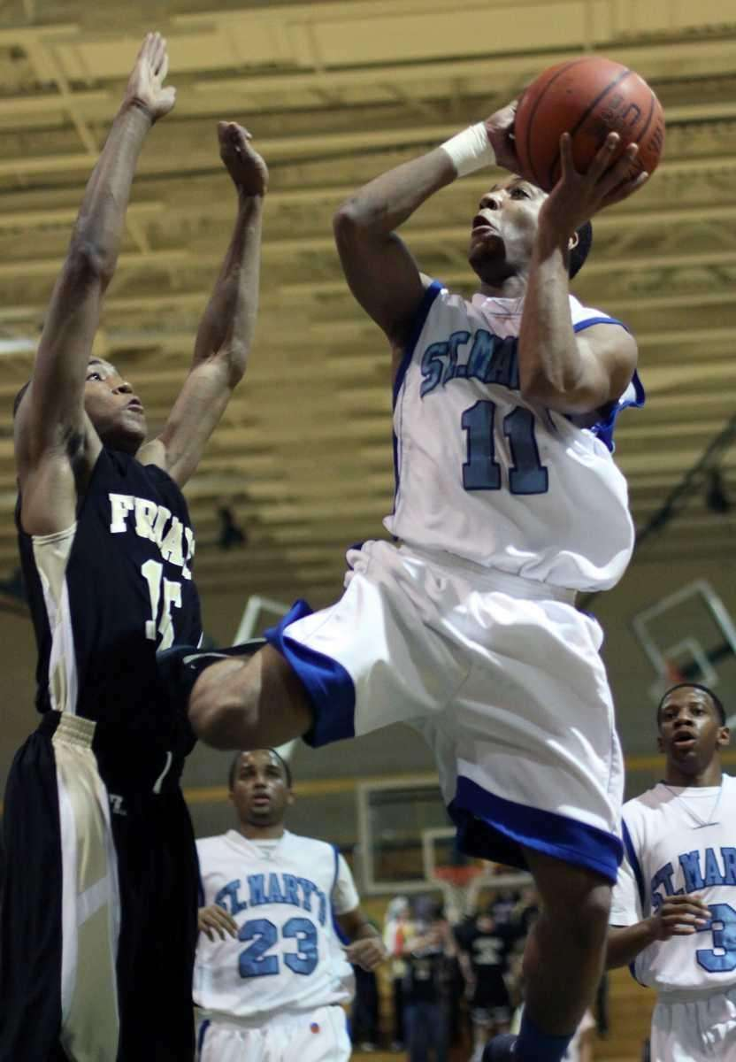 St. Mary's Dante Agnew during the NSCHSAA basketball