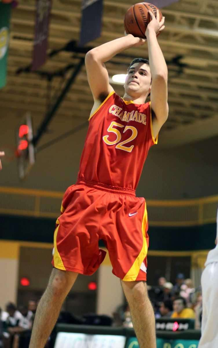 Chaminade's Richard Zoller III shoots from outside during
