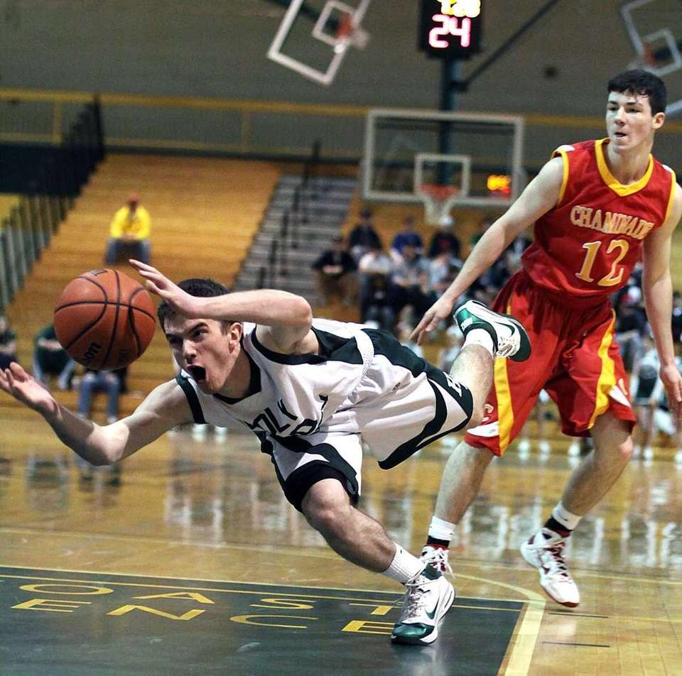 Holy Trinity's Michael Callaghan loses ball as Holy
